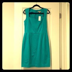 Banana Republic teal dress.  Size 12 .